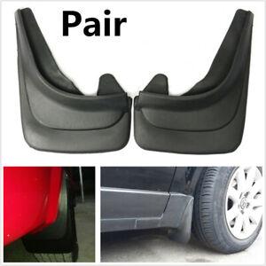 2Pcs ABS Soft Plastic Mudguards Car Fender Mud Flaps Splash Guards With Screws