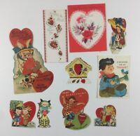 Lot of 10 Antique Vintage Valentine Greeting Used Novelty Cards Lot #14