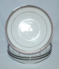 "Noritake MANOR PLATINUM 4297 - Set of Four 7 1/2"" Coupe Soup Bowls"