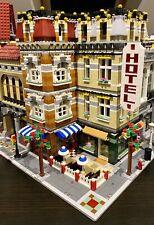 LEGO CUSTOM MODULAR LARGE CORNER BUILDING HOTEL CAFE fits with 10185 MOC 546 np