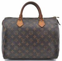 Authentic Louis Vuitton Monogram Speedy 30 Hand Bag M41526 LV B4148