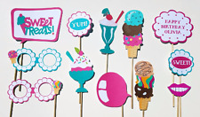 Ice Cream Social Party Photo Booth Props-12 Pieces
