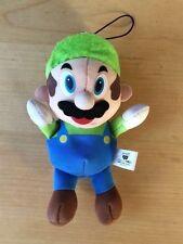 Banpresto Mario Bros Luigi UFFICIALE 2006 giocattolo morbido Nintendo RARE JAPAN Brothers