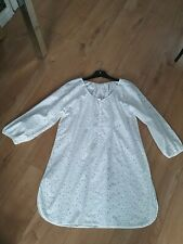Ladys The White Company Long Sleeved Lace Style Button up Dress Size 16