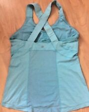 LULULEMON PUSH UR LIMITS TANK TOP Light Teal Blue size 10 Gym Spin Yoga Run