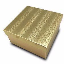 Us Sellerlot Of 50 Pcs 3 34x3 34x2 Gold Foil Cotton Filled Jewelry Boxes