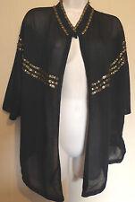 Marks & Spencer Ltd Collection Medium UK12-14 EU40-42 US8-10 new black cardigan