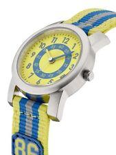 """Armband orig Mercedes Benz Kinder uhr Kids Jungen uhr watch   """" 86 """" blau Gelb"""