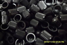 100 x Black Plastic Replacement Dust Caps/Stems for Cars,Bikes,Tractors