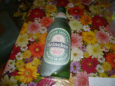 Huge 24� 1960s Vintage Plastic Heineken Beer Bottle Advertising hanging