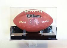 Football display case wall mount full size memorabilia NFL NCAA 85% UV filtering