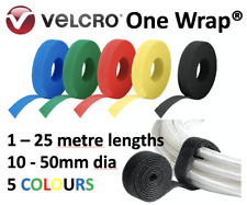Velcro® Brand ONE WRAP® 10-50mm Blue Green Red Yellow Black Strap Hook Loop Tie