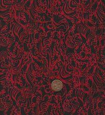 Hoffman 3325 405 Red/black Batik 100 Cotton Fat Quarter