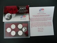 2009 Silver Proof Quarters 6 Coin Set