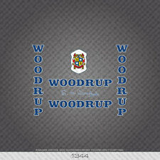 01344 Woodrup Bicycle Stickers - Decals - Transfer - Blue