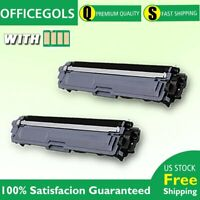 2PK For Brother TN223 Toner BLACK W/CHIP MFC-L3770CDW HLL3270CDW MFCL3710CW US