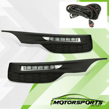 For 2016-2018 Honda Accord Sedan LED DRL Bumper Fog lights Set 2017 w/Wiring Kit