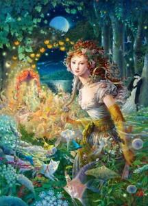 Deluxe Jigsaw Puzzle 1000 Piece Dance of the Sea Angel Fairy of Woods DIY YC1401
