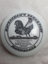 RARE Haversham's Breakfast Marmalade Ceramic Lidded Dish Trinket Rooster Vintage