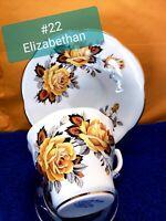 Elizabethan Fine Bone China Teacup And Saucer Set.  Made In England