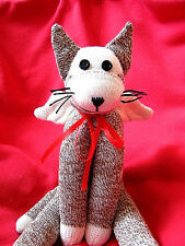 💜 Winged Cat - Sock Monkey Flying Cat