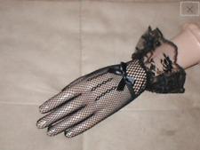 New listing Vintage Black Fishnet Gloves