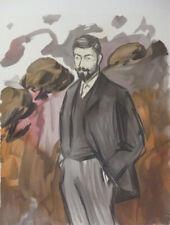 """Picasso Stone Lithograph """"Portrait d'un homme debout avec barbiche"""" 1899"""