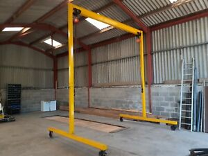 Lifting Gantry/A Frame With Two Blocks & Beam Trolleys