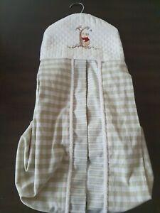 Disney Winnie The Pooh Gingham Hanging Baby Diaper Holder Storage stacker VTG