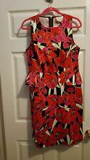 NWT Kate Spade Tropical Peplum Sheath Dress Rio de Janeiro, Size 14, Retail $378
