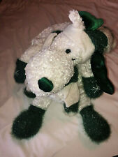 VTG Puffalump Bells Dan Dee White Green Holiday Moose Plush Stuffed Animal 16""