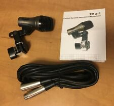 Used Drum Microphone For Toms Bongos Cajons CAD TM211 Cardioid Mic+10' XLR Cable