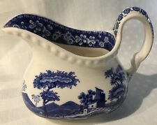 Copland Spode's TOWER BLUE England Creamer Small Pitcher Gadroon Edge*
