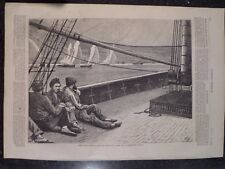 Yacht Race Regatta On the River View From Deck Thames Harper's Weekly 1872