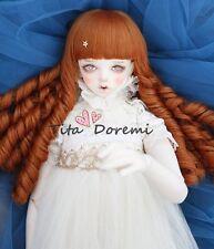 Bjd Doll Wig 1/3 8-9 Dal Pullip AOD DZ AE SD DOD LUTS Dollfie Doll orange Toy