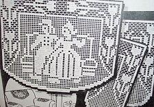 2546 Vintage LW Filet DUTCH COUPLE Chair Set Pattern to Crochet (Reprint)