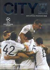 Mann Stadt v Bayern München 2013/14 Champions League Programm Manchester