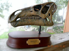 Dinosaur Iguanodon Skull model with stand and name plate jurassic park