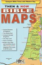 THEN AND NOW BIBLE MAPS - New  Pamphlet by Rose Publishing