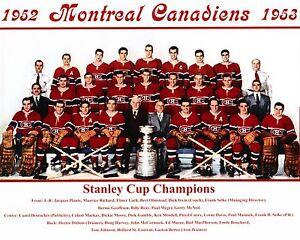 Montreal Canadiens 1952-53 Champ. Team Photo