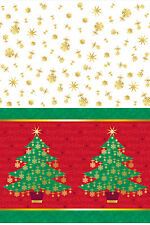 Golden Christmas Partyware Plastic TABLECOVER/CLOTH x 1 Christmas Party
