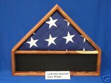 AMERICAN RED CEDAR FLAG MEDALS DISPLAY CASE MILITARY BURIAL MEMORIAL FUNERAL USA