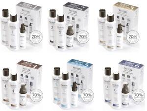 Nioxin 1/2/3/4/5/6 Shampoo + Revitaliser Conditioner 150ml + Treatment Trio Pack