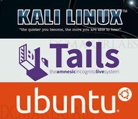Tails 3.11, Kali 2018.4, Ubuntu 18.04 Multiboot USB Drive Bootable Linux