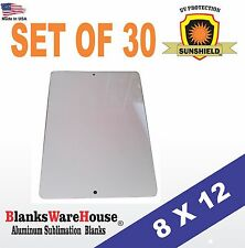 """30 Pieces PARKING SIGN  ALUMINUM  SUBLIMATION BLANKS 8"""" x 12"""" / WITH HOLES"""