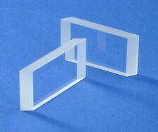 Lot Of 2 Ea 12 X 08 Optical Flat Windows Polished Both Sides Ios Vis Optics