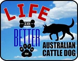 Life is Better an Australian Cattle Dog 11.5 inch 9 inch Laminated Dog Sign