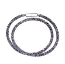 Made With Swarovski Crystal ELEMENTS Thin Mesh Stardust Magnetic Bracelet Grey