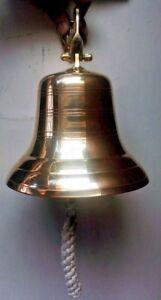 Big Brass Door Bell Wall Hanging Mount Nautical Brass Ship Calling bell Gift