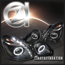 For 98-05 Lexus GS300/ GS400/ GS430 SMD LED Black Halo Projector Headlights
